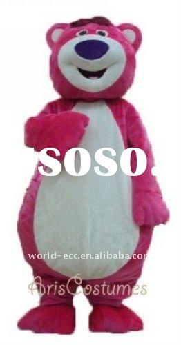 popular lotso bear mascot costume, movie cartoon costume, adult fur costume