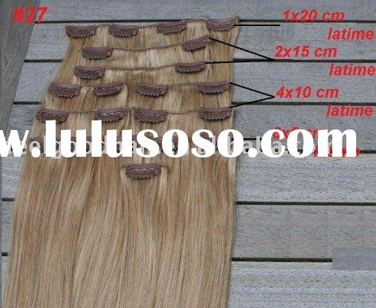 remy hair curly and straight clip in human hair extensions