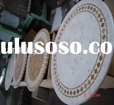 round marble dining table top