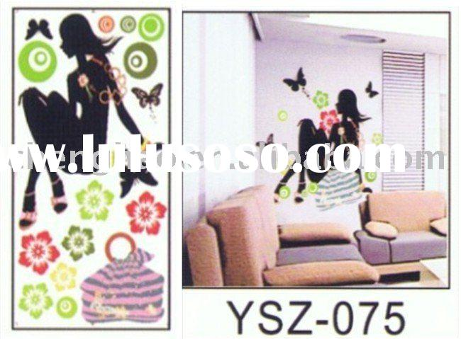 self-adhesive removable wall sticker/ house decor