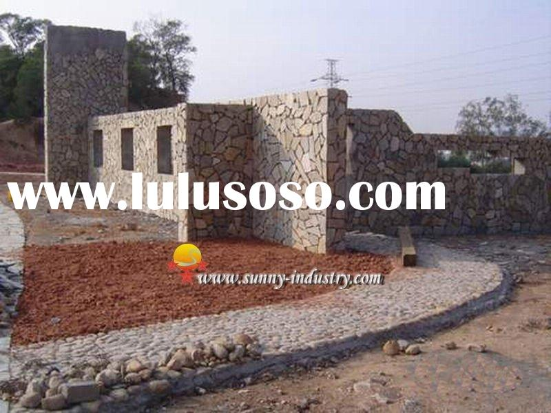 slate crazy paving stone irregular stone meshed flagstone