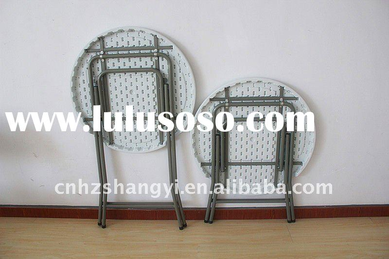 small plastic folding round bar stool height table