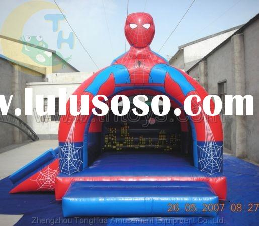 spider-man inflatable bounce castle, bouncy jump castle, air bounce house, inflatable moonwalks