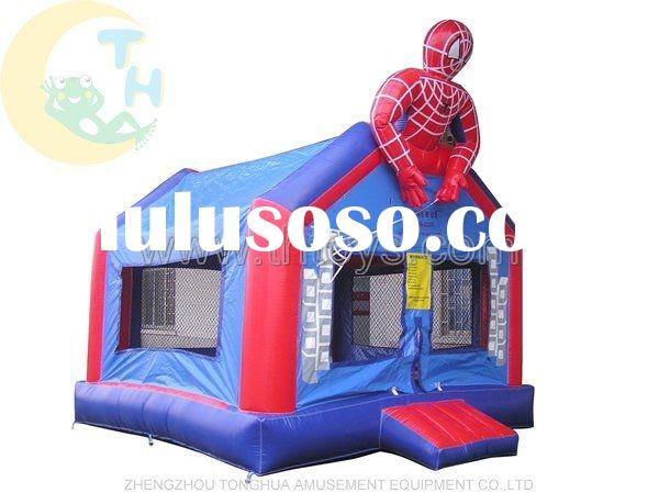 spider-man inflatable bouncer castles, bouncy jump castle, air bounce house, inflatable moonwalk