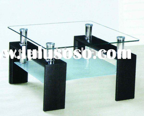 square MDF GLASS coffee table