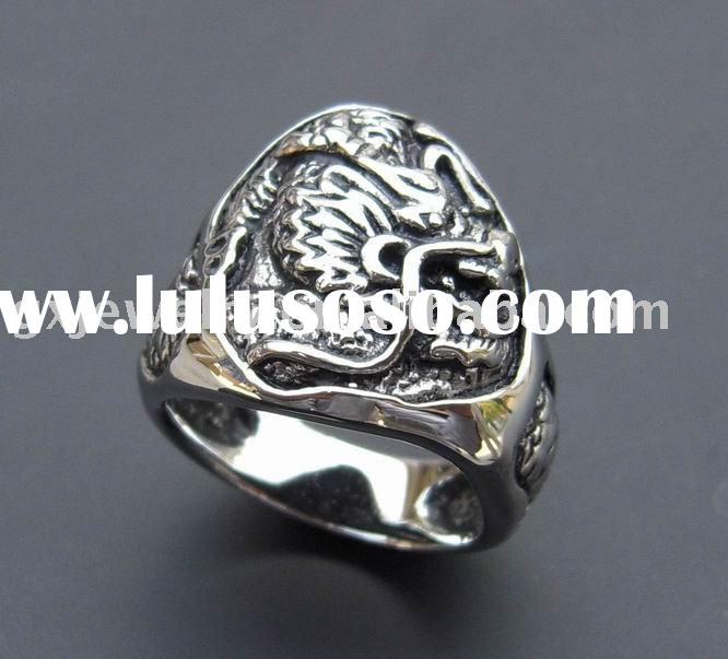 stainless steel jewelry/stainless steel ring/dragon ring/polishing/casting