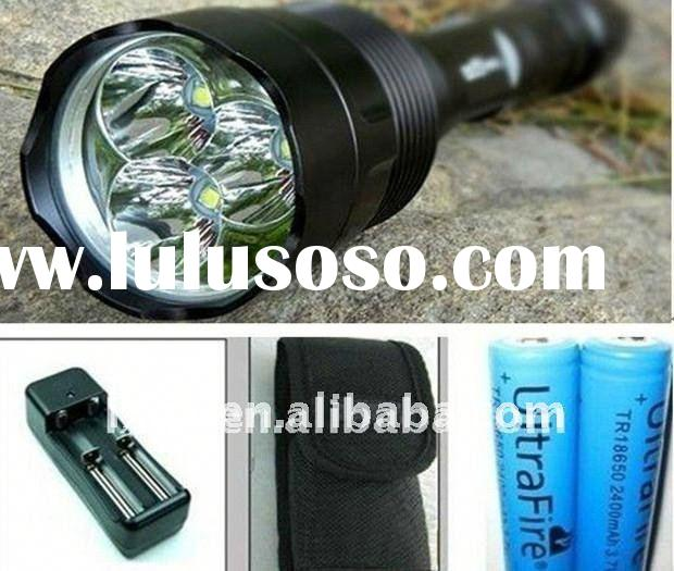 torch light rechargeable battery TrustFire 2800 lumens CREE LED Flashlight 3*T6 sets LED TORCH