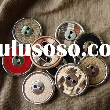two holes fabric covered plastic buttons
