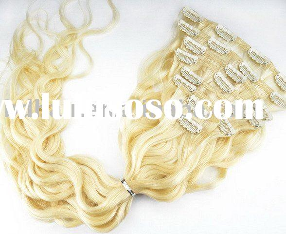 wavy clip on hair extensions, remy human hair extensions