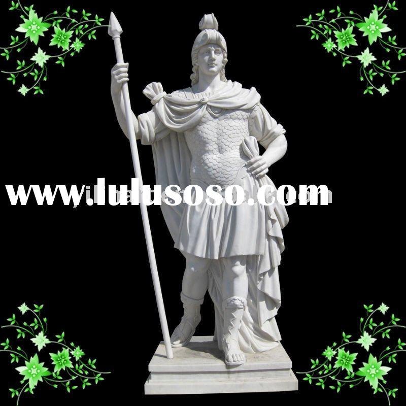 white marble stone carving sculpture of roman YL-R366