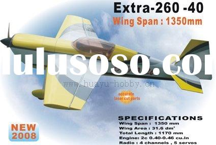 wood Toys RC Model planes balsa airplanes fuel airplane Extra 260 -40 ARF radio control NP-8127A