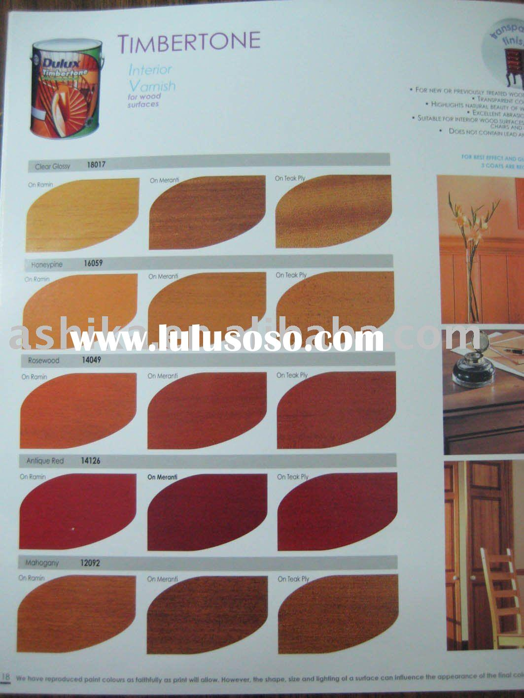 wood varnish paints color card