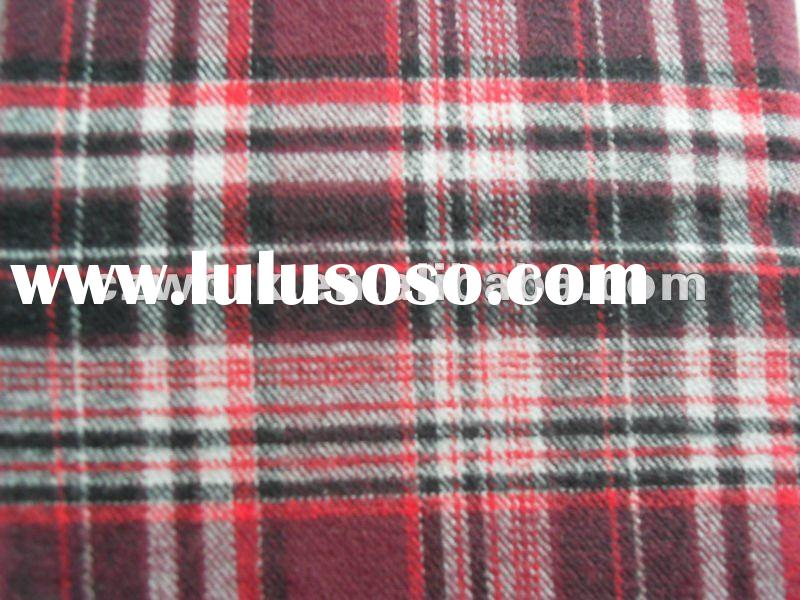 100%Cotton yarn dyed flannel checks shirting fabric