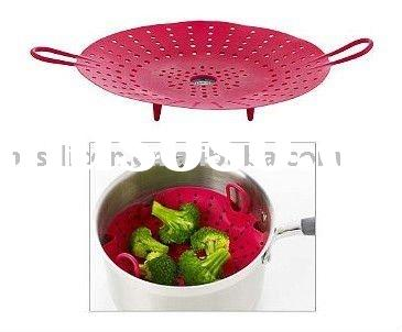 100% Healthy Silicone Cooking Steamer, 100% food-grade silicone material