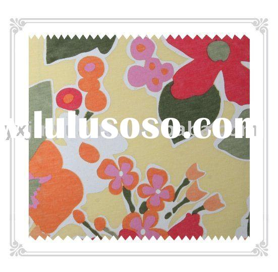 100% cotton knitted printed fabric