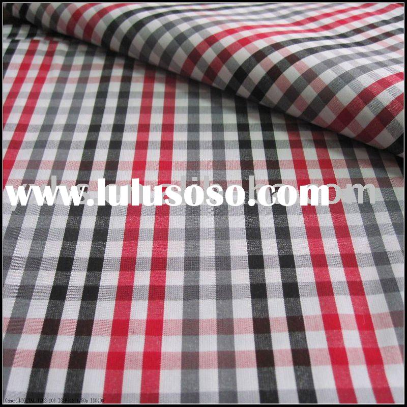 100%cotton yarn dyed check fabric