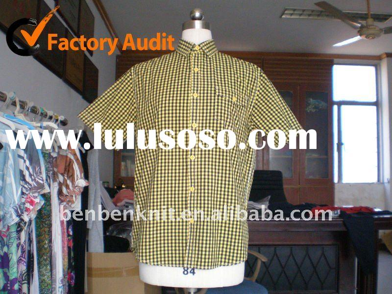 100%cotton yarn dyed fashion man dress shirt