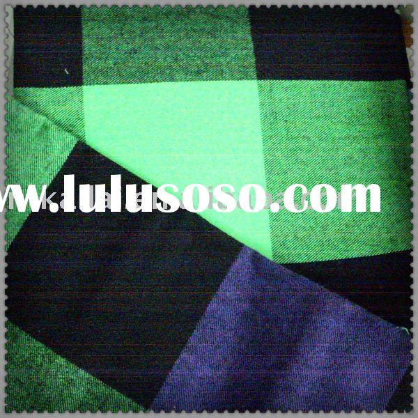 100%cotton yarn dyed flannel woven fabric