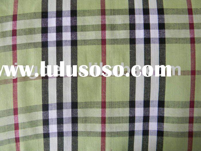 100% cotton yarn dyed woven fabric stock