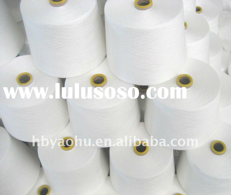 100% polyester spun yarn/spun pollyester sewing thread for knitting 50s