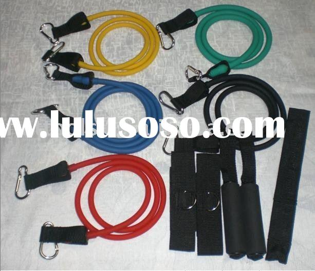 10 pcs of Resistance Bands Kits with Alloy Carabiner/Exercise Bands/Resistance Bands Kit