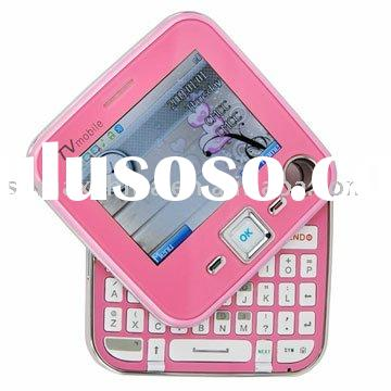 180 Degree Rotating QWERTY Keyboard TV Mobile Phone-Pink