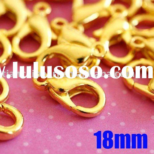 18mm Gold Plated claw lobster clasp Garment Jewelry Findings Accessories Fittings Components