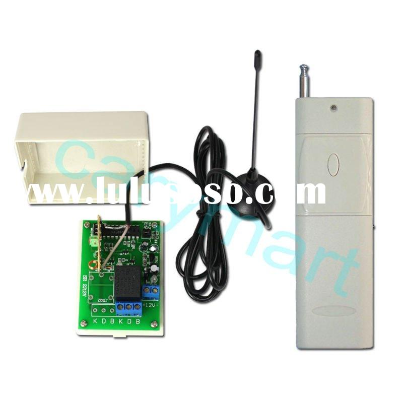 2000M 1 CH DC 9V 12V 24V Wireless Remote Control Power Switch/ Relay Switch - Receiver & Transmi