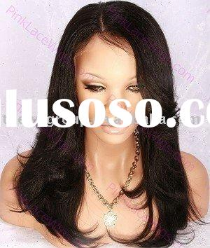 2010 NEW DESIGN 100% Indian remy full lace wig for black women