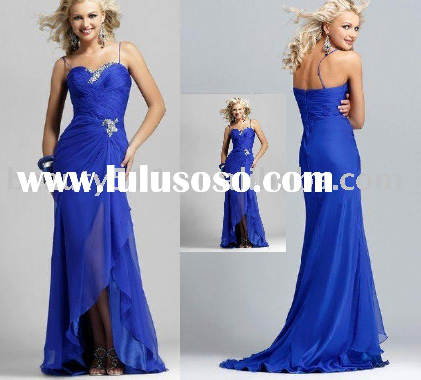 2010 navy blue evening dresses modest prom dresses and formal dress EUAH0314