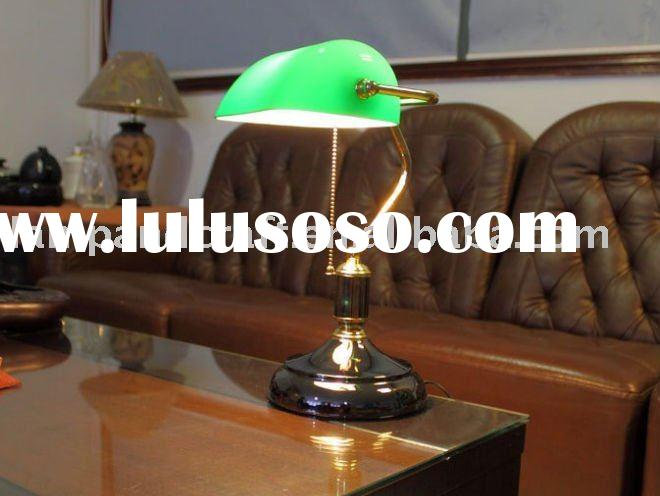 2011 Best Selling Classical Antique Bank Table Lamp MOQ10pcs Accepted For Office and Bank