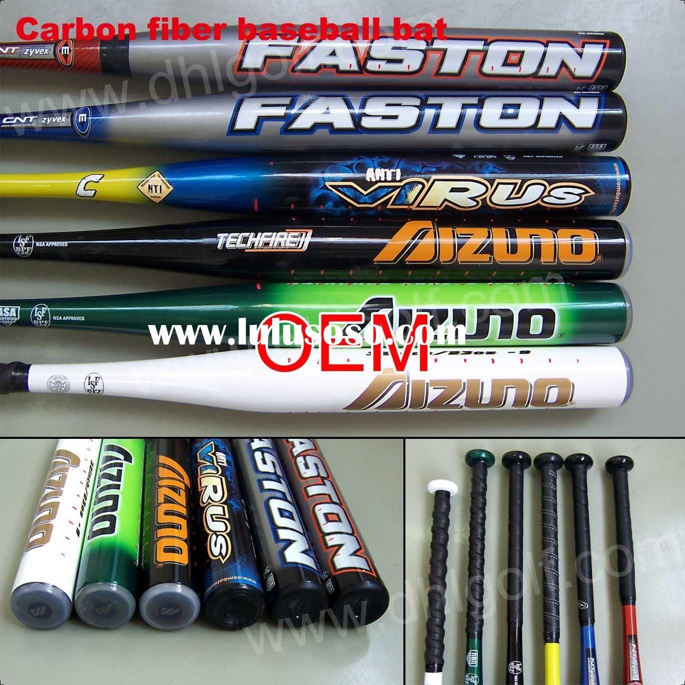 2011 Hot Alu+ Carbon Fiber Baseball Bat/Cheap/Paypal