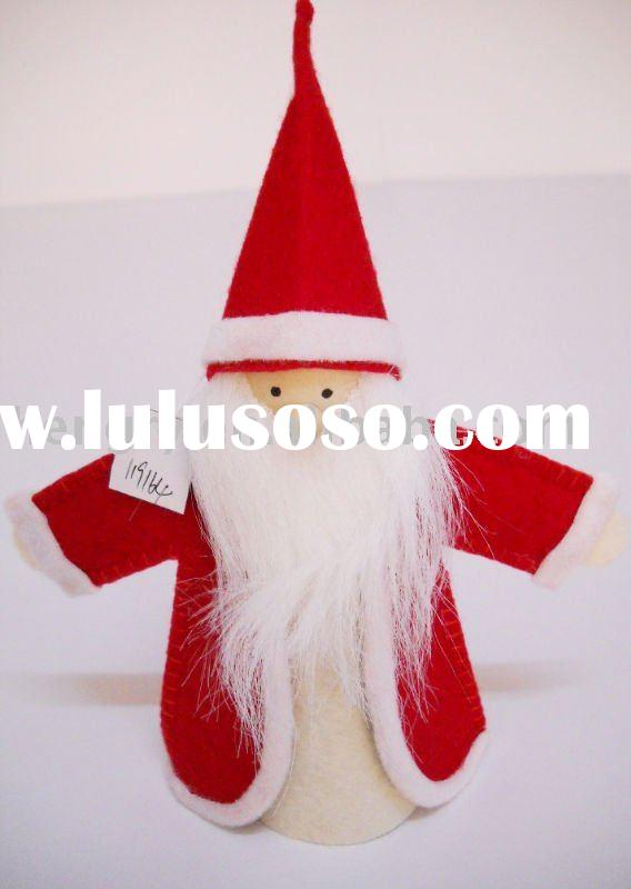 2011 Hot Sale Handmade Felt Santa Claus Christmas Decoration 119164