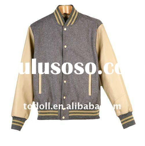 2011 Men's Top Quality Plain Baseball Jacket