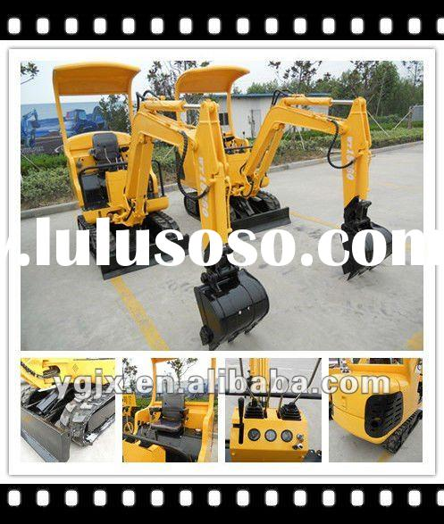 2011 Newest 1.5 ton mini hydraulic crawler excavator / rubber caterpillar, with hydraulic hammer