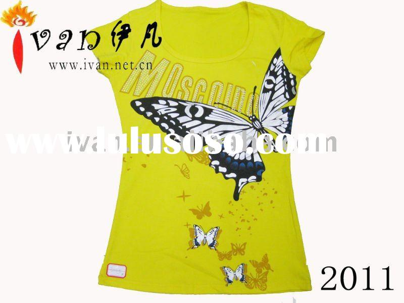 2011 Newest Design 100% Cotton t shirt Printing