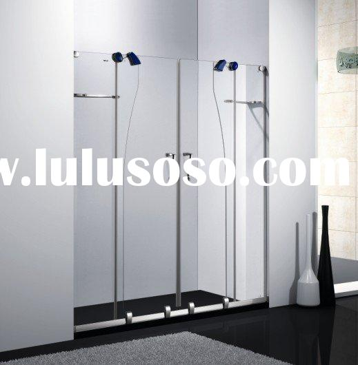 2011 fashion frameless sliding shower screen