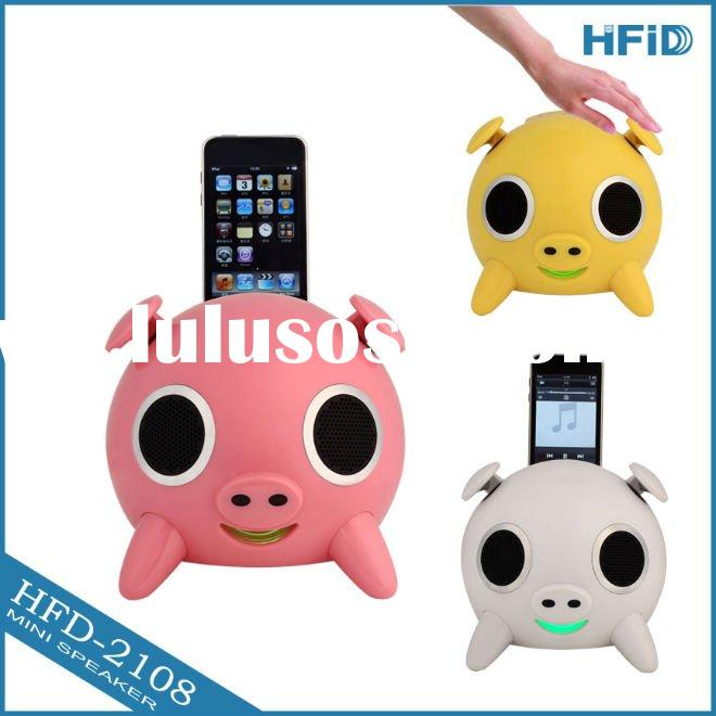 2011 fashion portable high quality lower price for iphone speaker