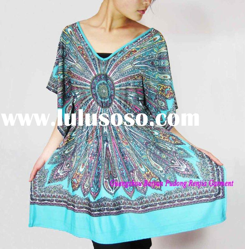 2011 latest fashion Ladies dresses for western