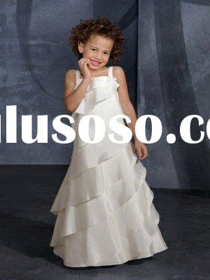 2011 latest fashion design Pretty Beautiful and sweet flower girl dress