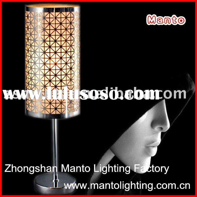 2011 modern stainless steel hotel project table lamp