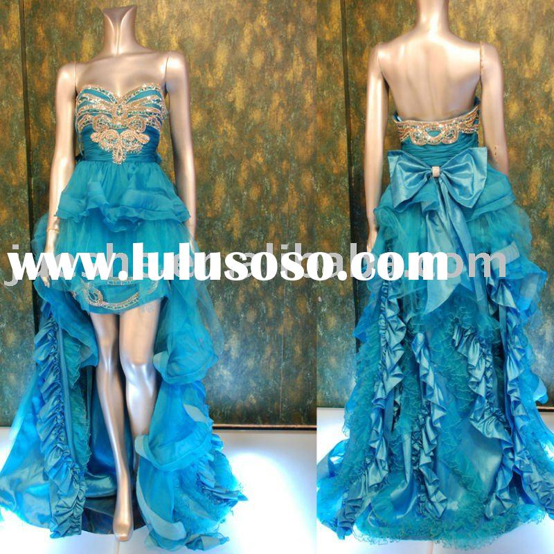 2011 new collection fashion taffeta evening dress 6462