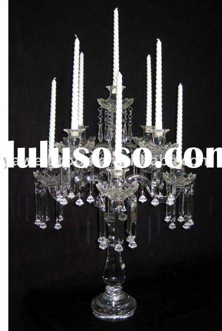 2011 newest crystal candle holder design for wedding,party,home decoration
