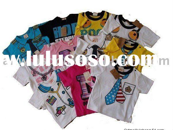 2011 newest fashion and hotsale new 100%cotton child's T-shirt/ underwear