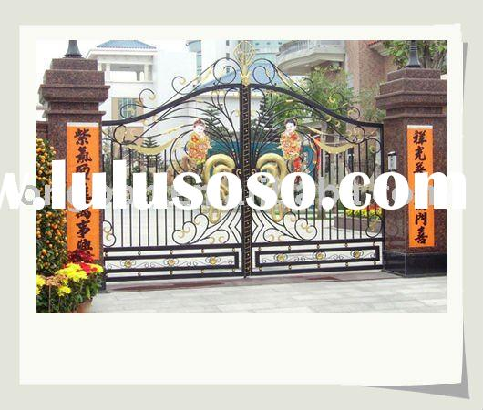 2011 newest modern wrought iron swing gate design for home,garden(I-G-0050)