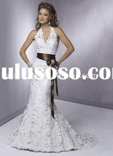 2011popular lace ribbons exquisite Bridal Gown wedding dress eveningdress