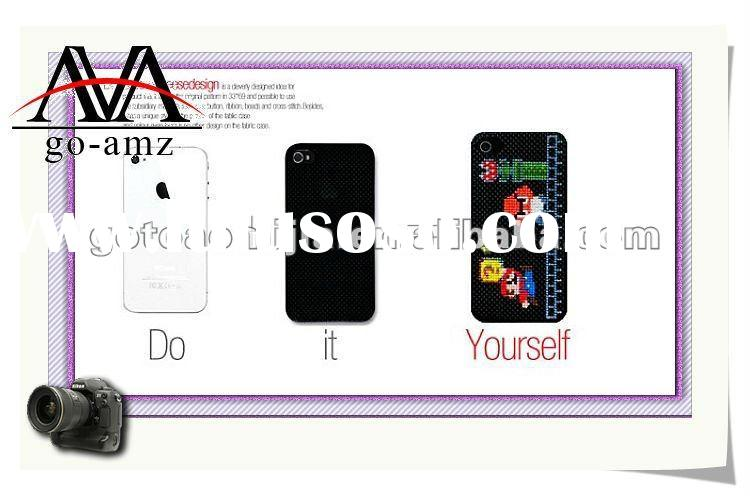 2012 Cross-Stitch DIY Yourself silicone mobile phone case for iphone 4
