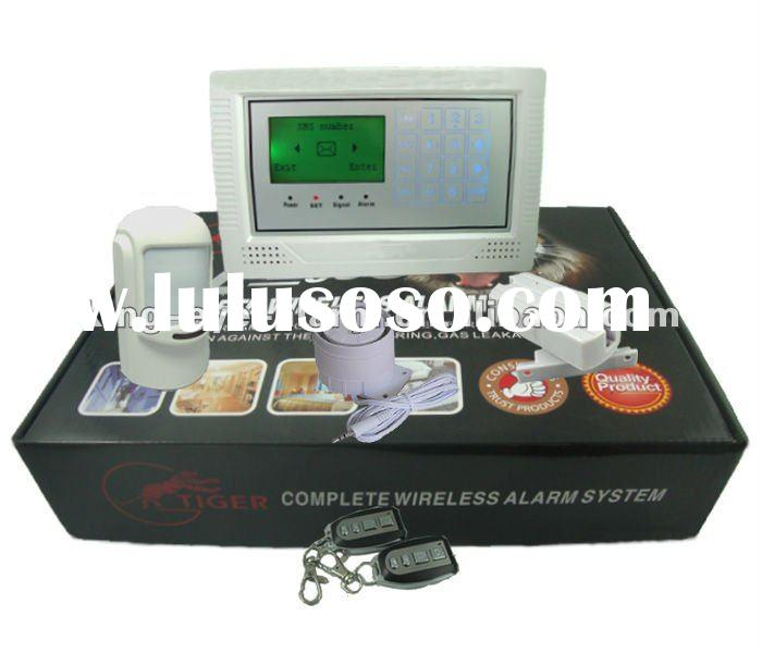 2012 Latest LCD GSM security auto dial home wireless alarm with touch screen keypad KI-G300W