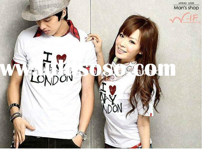 "2012 London olympic games 100% cotton printing logo""I LOVE LONDON"" short sleeved t-shirt"