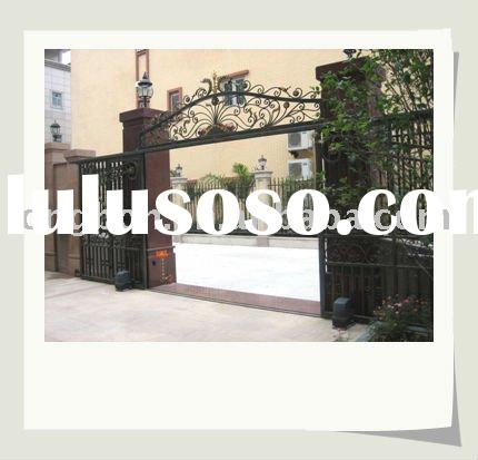 2012 Top-selling hot galvanized wrought iron garden gate